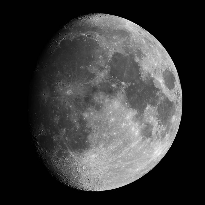 Waxing Gibbous Moon at 10 days